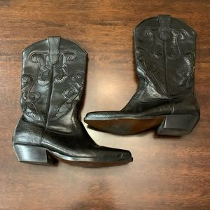 Nine West Leather Cowboy Boots Made in Brazil